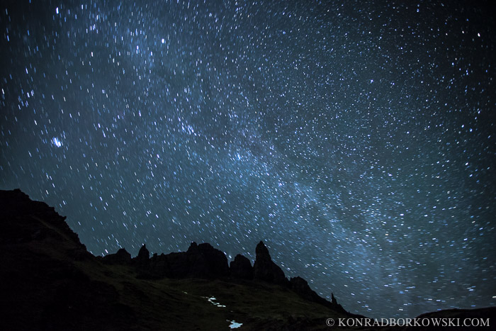 Starry Night over the Old Man of Storr, Isle of Skye.