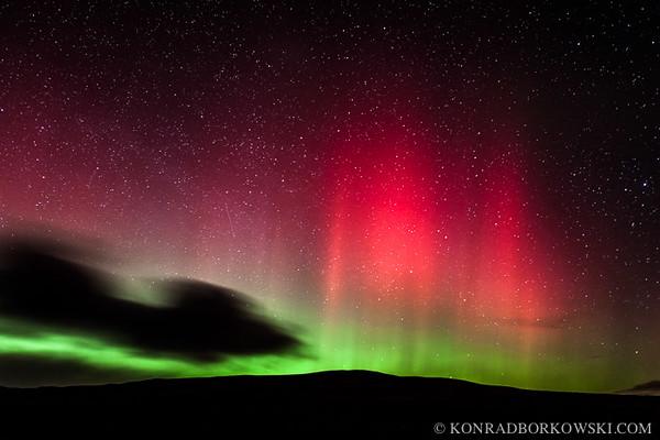 Northern Lights on Isle of Jura, Scotland.