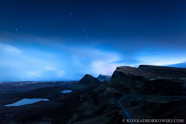Quirrang at night, Isle of Skye.