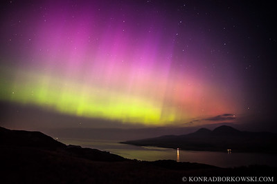Aurora over the Sound of Islay