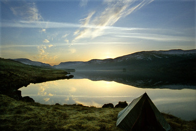 Loch Ossian, just before sunrise.  6.30am, 06/04/80