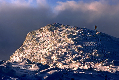 Summit of Meall a'Bhuiridh.  3pm, 01/01/82  ~ Not many skiers take the trouble to seek out the summit view.
