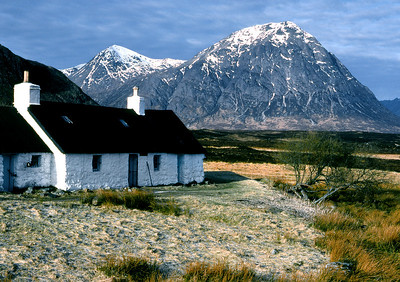 Blackrock and the Buachaille.  9am, 03/03/80
