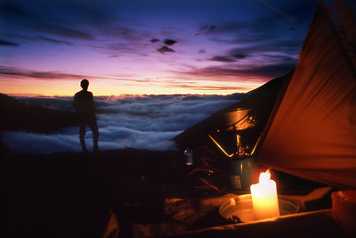 Camp by Lochan Coire nam Miseach.  11.30pm,  15/06/84