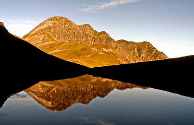Morning light on Stob Ban, from Lochan Coire nam Miseach  7am, 16/06/84