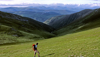 Cairngorms from Beinn a'Ghlo.  4pm,  17/7/82