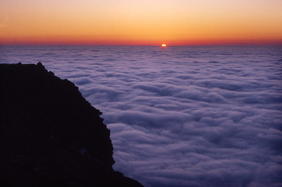 Sunset from Suilven.  10.30pm, 13/6/88