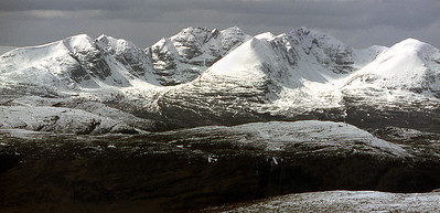 An Teallach from Seana Bhraigh.  1pm, 17/4/84