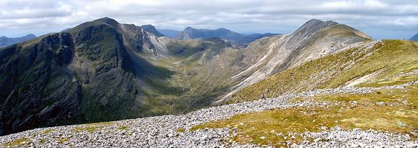 Coire Lair from the E top of Beinn Liath Mhor.  11am, 10/6/05