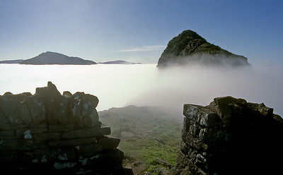 At inversion level (1800') on Suilven.  7am, 14/6/88