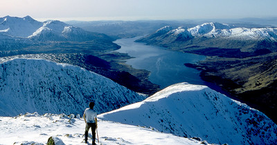 Loch Etive from Starav.   11am, 19/02/83  ~ This was a winter's day of rare perfection, cloudless and utterly still. A candle flame wouldn't have even flickered.