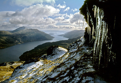 Loch Lomond and Ben Lomond from Ben Vorlich.  4pm, 10/02/81