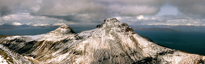 Hallival and Askival from Ainshval.  3pm, 21/4/83