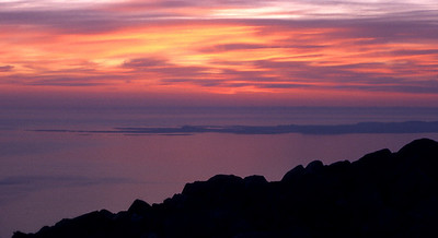 Twilight sky over Colonsay, from Beinn an Oir.  10.30pm, 23/5/87