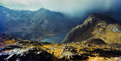 On Sgurr na Stri, about to get wet.