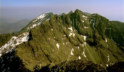 Sgurr Alasdair from the In. Pinn.  2pm, 19/4/82