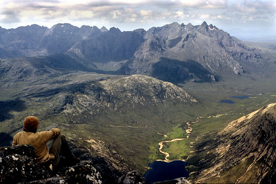 Cuillin ridge from Blaven.  3pm, 15/6/83