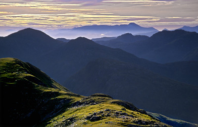 Towards Ben Nevis, from Sgurr na Bà Glaise.  7.30am, 23/07/00