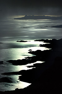 Eigg and the Sound of Arisaig from an Stac.  8pm, 20/07/91