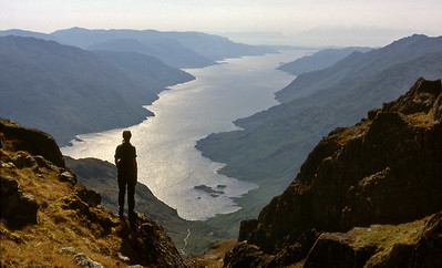 Loch Morar from the W end of Carn Mor.  4pm, 1/6/85