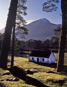 White Cottage, Glen Affric.  5.30pm, 21/04/85   . . . when it was a bothy. It isn't now.