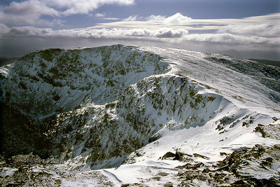 Carn Ghluasaid from the north-west.  mid-day, 21/04/85