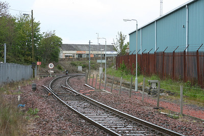 Mauchline Junction line in foreground looking towards Newton on Ayr