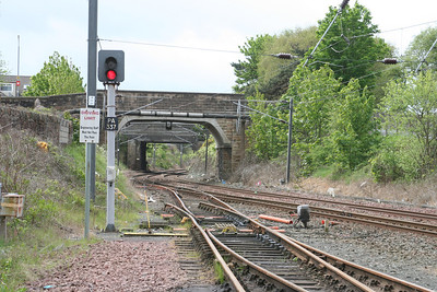 Looking south to Ayr station