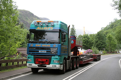 Allelys stand by at Loch Awe to remove the class 156 coach