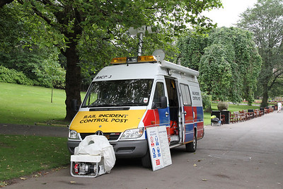 Rail Incident Control Post 3 in Princes St Gardens