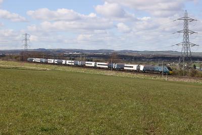 390043 9S54 Euston - Edinburgh near Kirknewton 9th April 2021
