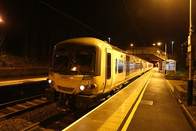 365525 is 2P68 2127 Dunblane - Edinburgh and I am the only boarding passenger at Polmont for Edinburgh Park