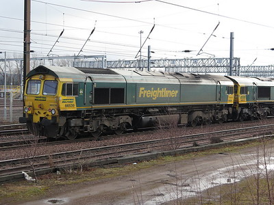 66539 and 66518 at Millerhill 04 Feb 2018