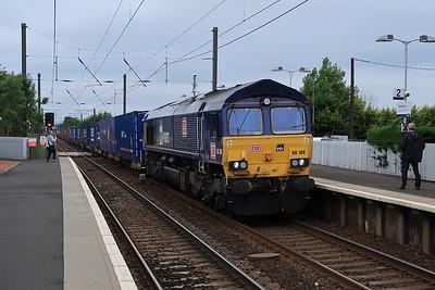 66109 on 4E96 Mossend - Tees passes Kirknewton 24 July 2020