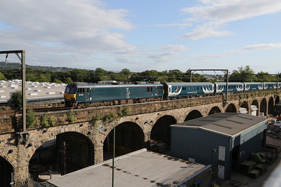 92038 crosses Slateford viaduct with 5B26 sleeper empties