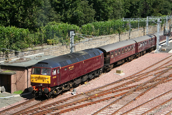 47804 departs Waverley with The Royal Scotsman 30th July 2007