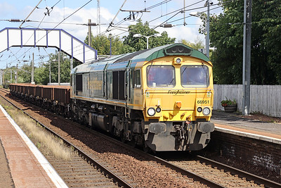 66951 passes Slateford with 6K15 Millerhill - Carlisle on 27th July 2020