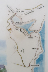 Dornoch Station information board