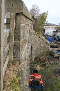 Bridge abutment on the East Calder branch - south of the village