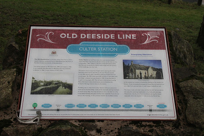 Culter station signboard