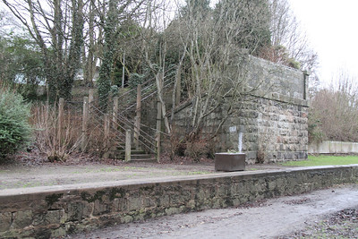 Culter station overbridge abutments