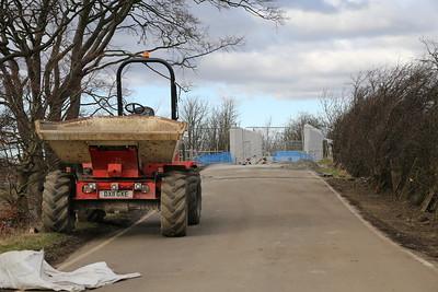 Park Farm.  No pedestrian provision!