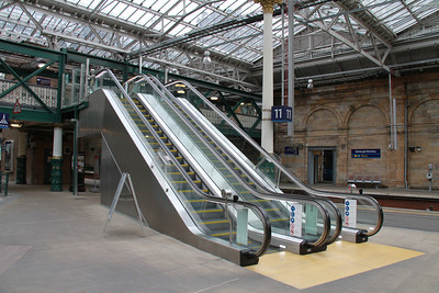 New escalators to the overbridge from Platform 11