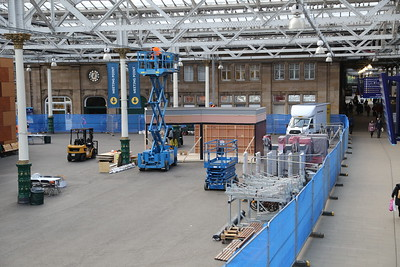 Film set being constructed for 'Mary Lou'