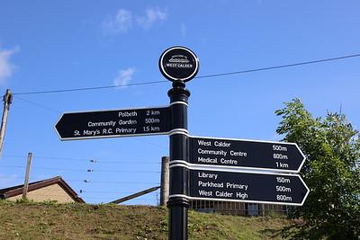 West Calder wayfinding signage