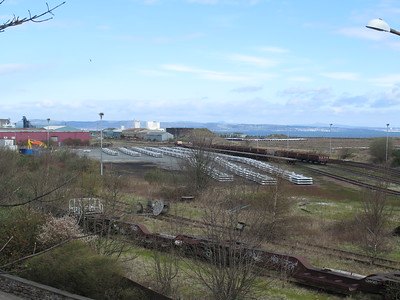 Leith South yard 17th April 2016 - lots of sleepers!
