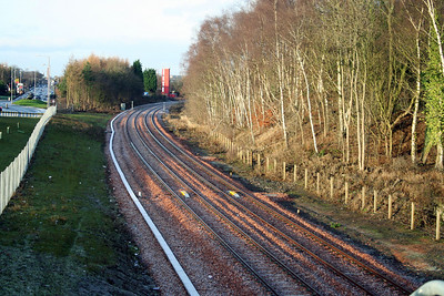 Alloa B909 looking west