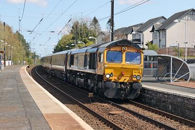 66722 5Z78 Hamilton GBRf - Hamilton GBRf via Edinburgh at Kirknewton 30th April 2021