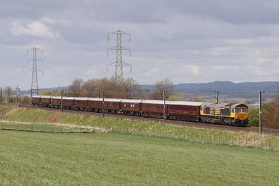 66722 5Z78 Hamilton GBRf - Hamilton GBRf via Edinburgh 28th April 2021