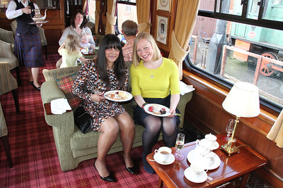 The two charming ladies from VSOE who I joined for afternoon tea.  Delightful company!